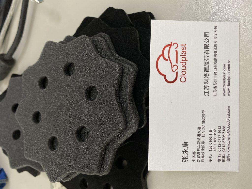头盔用缓冲绒布海绵片 - 环保/吸震/无异味